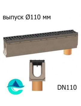 BetoMax ЛВ-11.19.23-Б-У01 лотки водоотводные бетонные с вертикальным водосливом и решёткой чугунной щелевой ВЧ-50 кл. D или E