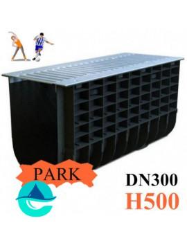 ЛВП DN300 H500 PARK лоток пластиковый водоотводный с решеткой