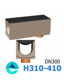 BetoMax ЛВ-30.38.41-Б лотки водоотводные бетонные с вертикальным водосливом и с решеткой чугунной щелевой ВЧ-50 кл. D или E