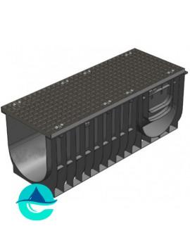 Light ЛВ-30.38.28 лоток пластиковый водоотводный с решеткой стальной оцинкованной ячеистой