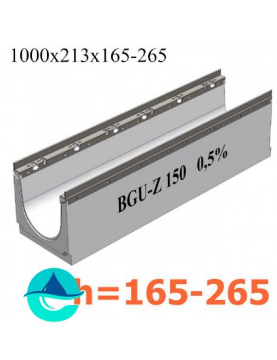 BGU-Z DN150 лотки бетонные водоотводные с уклоном
