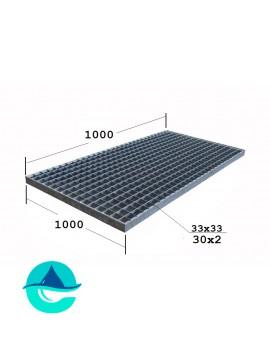 P 1000х1000 30/2 33х33 Zn решетчатый прессованный оцинкованный настил