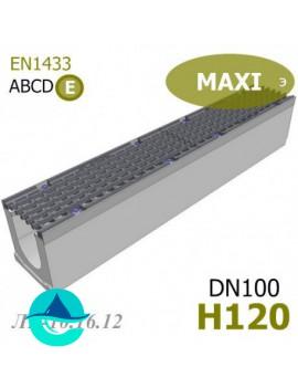 MAXI DN100 H120 лоток бетонный водоотводный