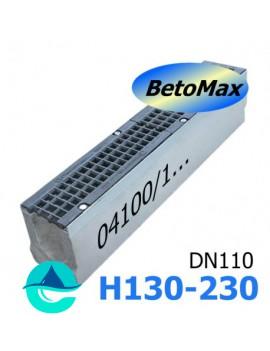 """BetoMax ЛВ-11.19.23-Б-У01 лотки водоотводные бетонные с уклоном и с решеткой чугунной """"протектор"""" ВЧ-50 кл. D или E"""