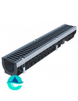 Лоток водоотводный пластиковый PolyMax Drive DN100 H136
