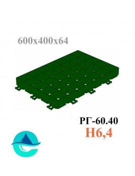 Решетка газонная Eco Super РГ-60.40.6,4 - пластиковая зеленая
