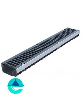 Лоток водоотводный пластиковый PolyMax Drive DN100 H71