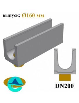 BGU DN200 лотки бетонные водоотводные с вертикальным водоотводом