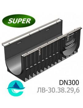 Gidrolica Super ЛВ-30.38.29,6 лоток пластиковый водоотводный