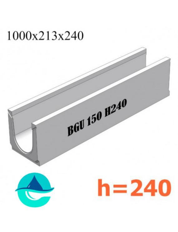 BGU DN150 H240 № 10-0 лоток бетонный водоотводный