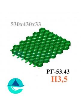Решетка газонная Eco Normal РГ-53.43.3,5 - пластиковая зеленая