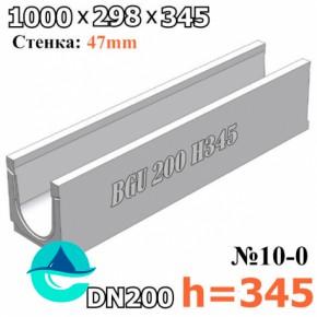 BGU DN200 H345 № 10-0 лоток бетонный водоотводный