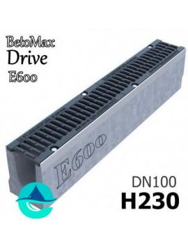 BetoMax Drive ЛВ-10.16.23-Б лоток бетонный водоотводный с решеткой чугунной щелевой ВЧ-50 кл. E