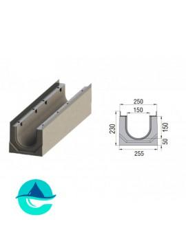 Лоток бетонный водоотводный ЛВК ВМ Sir 150 № 0/0