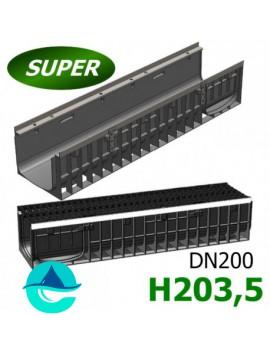 Gidrolica Super ЛВ-20.24,6.20 лоток пластиковый водоотводный