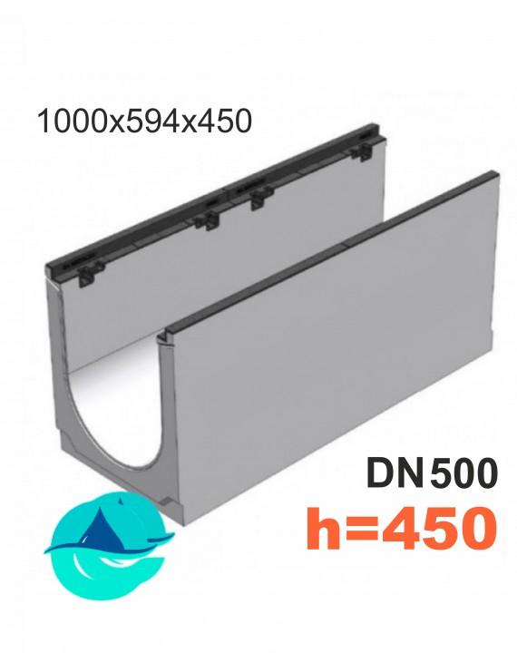 BGZ-S DN500 H450, № 0 лоток бетонный водоотводный