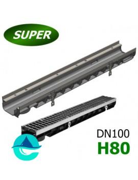 Gidrolica Super ЛВ-10.14,5.08 лоток пластиковый водоотводный