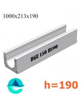 BGU DN150 H190 № 0 лоток бетонный водоотводный