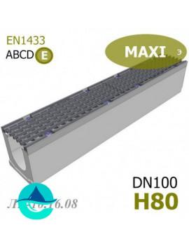 MAXI DN100 H80 лоток бетонный водоотводный