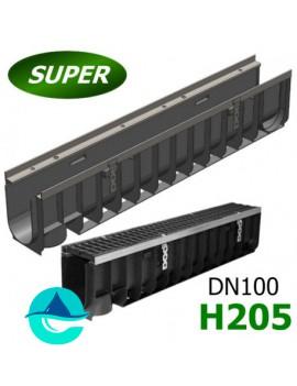 Gidrolica Super ЛВ-10.14,5.20,5 лоток пластиковый водоотводный