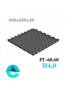 Решетка газонная Eco Pro РГ-60.60.4 - пластиковая черная
