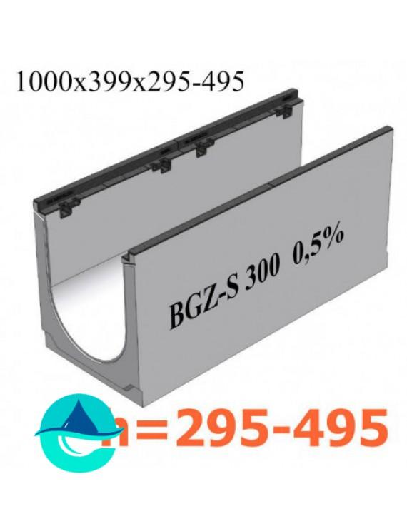 BGZ-S DN300 лотки водоотводные бетонные с уклоном
