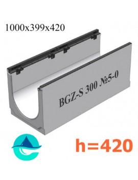 BGZ-S DN300 H420, № 5-0 лоток бетонный водоотводный