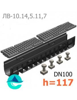 Gidrolica Pro DN100 H117 лоток пластиковый водоотводный