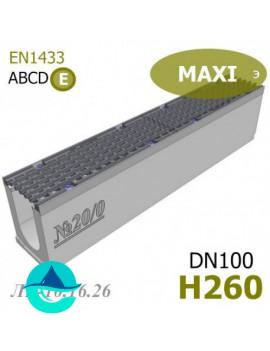 MAXI DN100 H260 лоток бетонный водоотводный