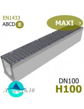 MAXI DN100 H100 лоток бетонный водоотводный