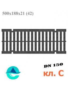 РВ -15.18,8.50 Gidrolica Pro пластиковая решетка водоприемная щелевая