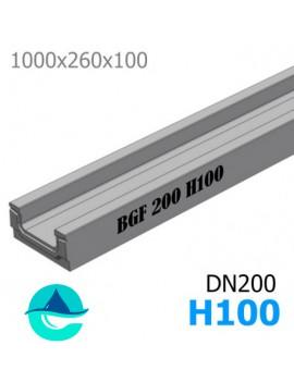 BGF DN200 H100 лоток бетонный водоотводный