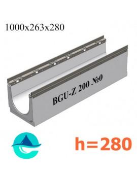 BGU-Z DN200 H280, № 0 лоток бетонный водоотводный