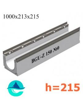 BGU-Z DN150 H215, № 0 лоток бетонный водоотводный