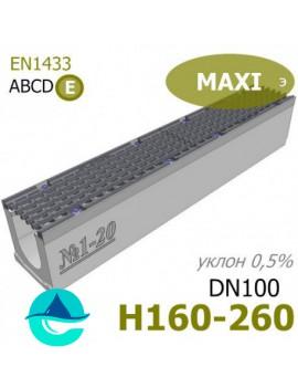 MAXI DN100 лоток бетонный водоотводный с уклоном