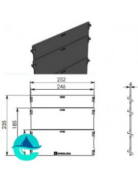 DN200 заглушка пластиковая Gidrolica Standart