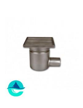Трап мини 150х150 с горизонтальным выпуском ∅ 50мм однокорпусный