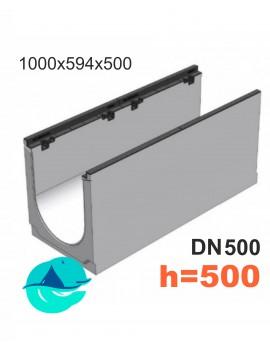 BGZ-S DN500 H500, № 10-0 лоток бетонный водоотводный