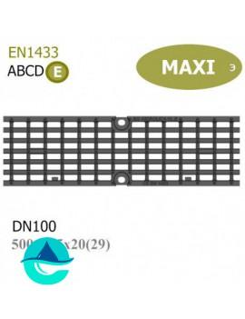 DN100 E600 Maxi решетка ячеистая чугунная ливневая