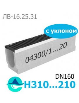 Maxi DN160 лоток бетонный водоотводный с уклоном