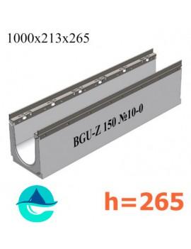 BGU-Z DN150 H265, № 10-0 лоток бетонный водоотводный