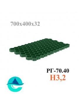 Решетка газонная Eco Standart РГ-70.40.3,2 - пластиковая зеленая