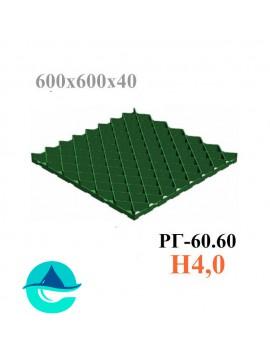 Решетка газонная Eco Pro РГ-60.60.4 - пластиковая зеленая