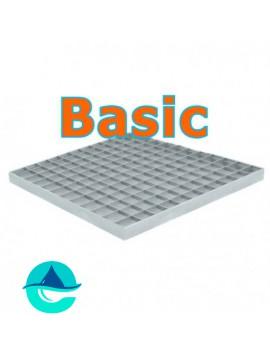 Стальная решетка Basic 400х400 ячеистая