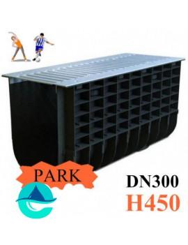ЛВП DN300 H450 PARK лоток пластиковый водоотводный с решеткой