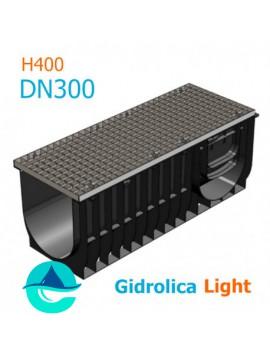 Light ЛВ-30.38.40 - лоток пластиковый водоотводный с решеткой стальной оцинкованной ячеистой