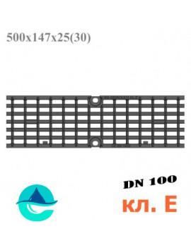 DN100 решетка чугунная ячеистая 500/147/25 кл. E