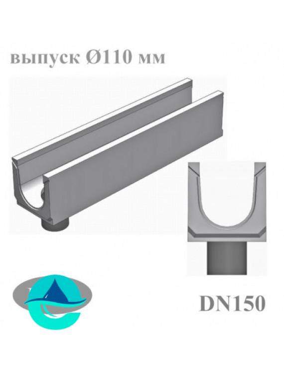 BGU DN150 лотки бетонные водоотводные с вертикальным водосливом