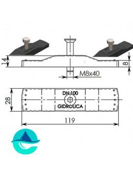 DN100 крепеж Gidrolica для стальной решетки 508/1 (арт. 108/1)