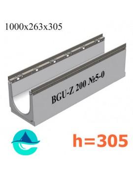 BGU-Z DN200 H305, № 5-0 лоток бетонный водоотводный